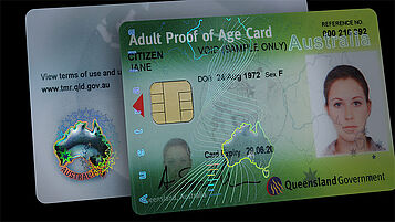 Australia (Queensland) Driver's License card with KINEGRAM GUARD