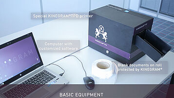 KINEGRAM TPD equipment for an easy, fast and secure issuance of KINEGRAM protected temporary documents