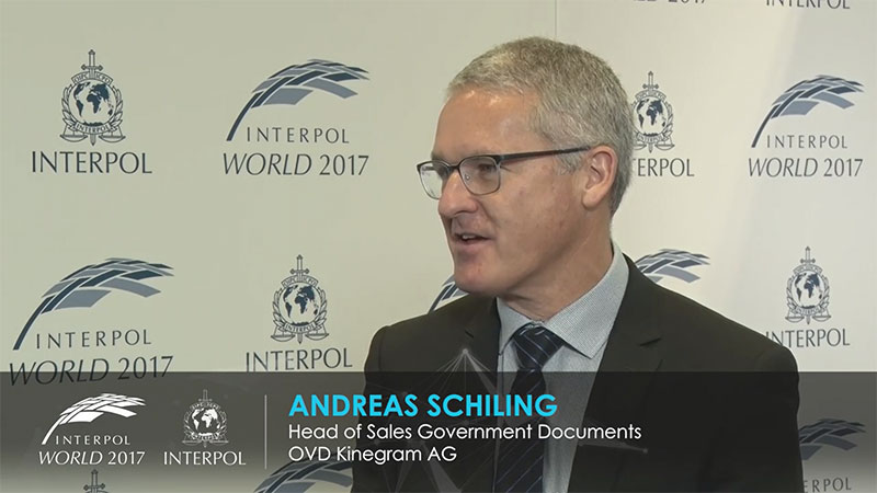 Interview with Dr Andreas Schilling during the Interpol World Conference in Hongkong 2017